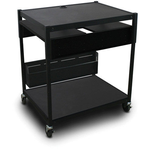 Our Spartan Series Adjustable Media Projector Cart with Two Pull-Out Side-Shelves - Black is on sale now.