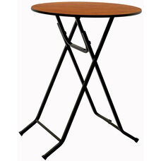Laminate Top Cafe/Cocktail Table with X - Base Legs and Vinyl T - Molding Edge - 30