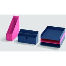 Bright Desk Organizing System Desktop Box Multi Set - Orange and Pink