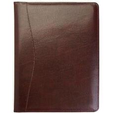 Writing Padfolio Document Organizer - Aristo Bonded Leather - Burgundy