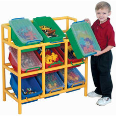 9 Bin Multicolor Tilt Storage - 33