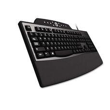 Kensington® Pro Fit Comfort Keyboard - Internet/Media Keys - Wired - Black