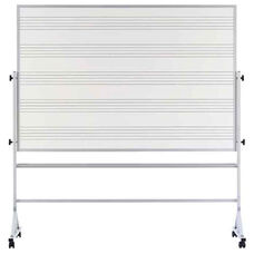 Double-Sided Markerboard with Music Staff Lines and Aluminum Trim