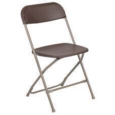 HERCULES Series 650 lb. Capacity Premium Brown Plastic Folding Chair