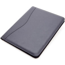 Deluxe Writing Padfolio - Top Grain Nappa Leather - Blue