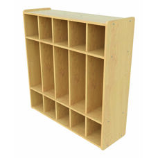 1000 Series Preschool Size 5 Section Locker with Double Hooks - Assembled