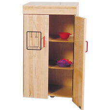 Pretend Play Solid Maple Kids Refrigerator - Assembled - 19.5