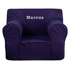 Personalized Oversized Solid Navy Blue Kids Chair