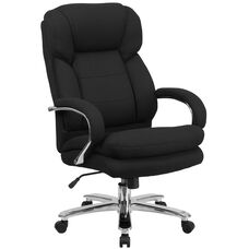 HERCULES Series 24/7 Intensive Use Big & Tall 500 lb. Rated Black Fabric Executive Swivel Chair with Loop Arms