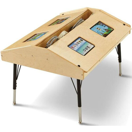 Our Adjustable Height Quad Tablet Ergonomic Wooden Table - 42