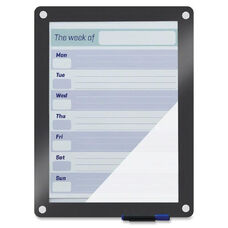 Iceberg Clarity Dry Erase Board Easel - Glass Surface - Gray