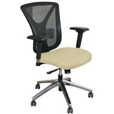 Fermata Executive Mesh Chair with Aluminum Base - Forsythia Fabric