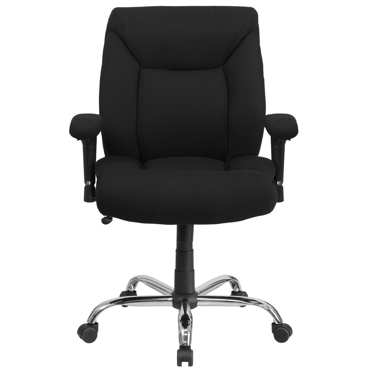 Black 400lb mid back chair go 2073f gg for Furniture 4 schools