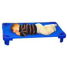 Blue Fully Assembled Toddler Stackable Kiddie Cots - 23