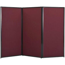 3 Panel 7'6''Wide x 70'' Tall Privacy Screen - Fabric