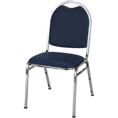 500 Series Stacking Armless Hospitality Chair with Rounded Back and 1.5