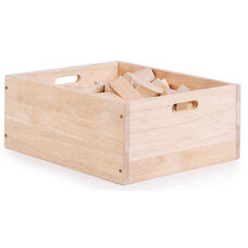 My First Block Box Rubberwood Block Set with Rounded Edges - 62 Piece Set