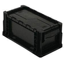 Heavy Duty Straight Wall Stack Container in Black