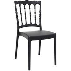Napoleon Outdoor Resin Stackable Wedding Chair - Black
