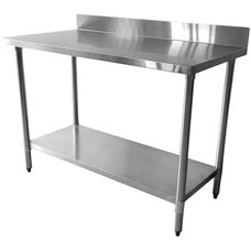 430 Stainless Steel Flat Top Worktable with 4