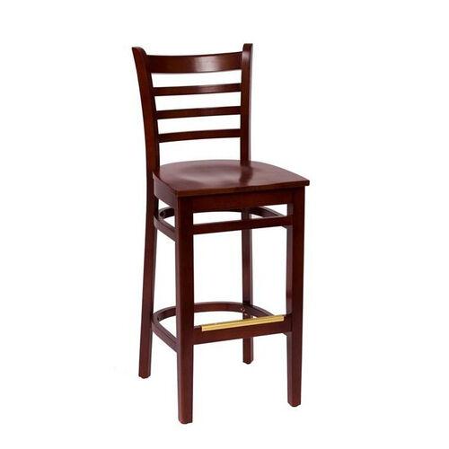 Our Burlington Mahogany Wood Ladder Back Barstool - Wood Seat is on sale now.