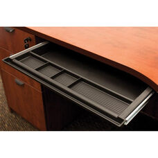 21''W x 16''D Center Desk Organizer Drawer - Black