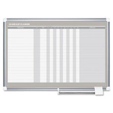 Bi-Silque Mastervsn In/Out Dry-Erase Row Planner