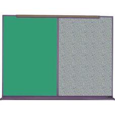 800 Series Aluminum Frame Combination Chalkboard and Tackboard - Claridge Cork - 48