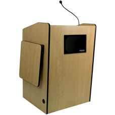 Multimedia Wired 150 Watt Sound Presentation Podium - Maple Finish - 33