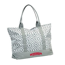 University of Wisconsin Team Logo Ikat Tote