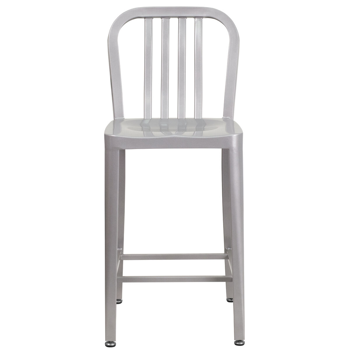 24 silver metal outdoor stool ch 61200 24 sil gg for Furniture 4 schools