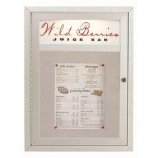 1 Door Main Street Style Aluminum Frame Enclosed Bulletin Board with Header - 24
