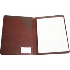 Writing Padfolio Document Organizer - Aristo Bonded Leather - British Tan