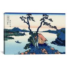 Lake Suwa in the Shinano province by Katsushika Hokusai Gallery Wrapped Canvas Artwork