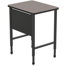 Apex Series Height Adjustable Stand Up Desk with PVC Edge - Gray Nebula Top with Black Edge and Legs - 30
