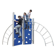 Arch Ladder Hercules Climber with Two Galvanized Steel Ladders and Two Polyethylene Climbing Walls - 120