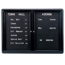 Ovation Aluminum Frame Letterboard with Radius Corners