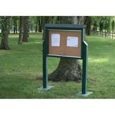 Medium Two Side Recycled Plastic Message Center with 2 Posts