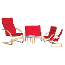 Bentwood 5 Piece Comfort Furniture Set with Removable Cushions - Adult and Child