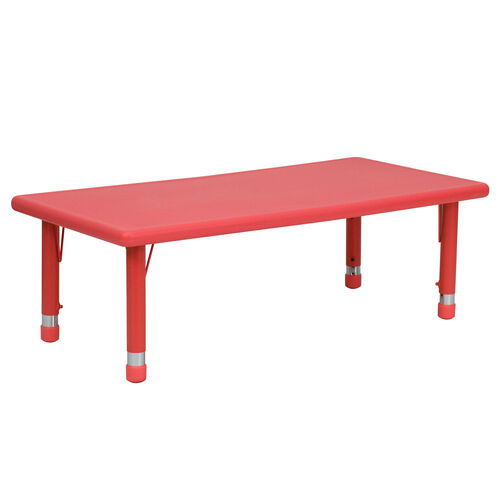 """Our 24""""W x 48""""L Rectangular Plastic Height Adjustable Activity Table is on sale now."""