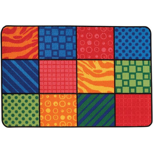 Our Kids Value Patterns at Play Rectangular Nylon Rug - 48