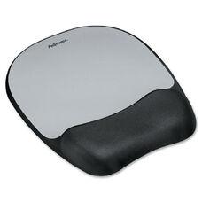 Fellowes Memory Foam Silver Streak Mouse Pad