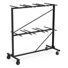 Quick Ship Two Tier Folding Chair Storage Rack - 30.75''W x 68''D x 80''H