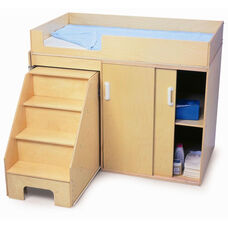 Step Up Toddler Changing Cabinet with Pull Out Stairs