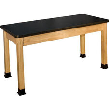 Rectangle Shaped High-Pressure Laminate Top Science Table - 42