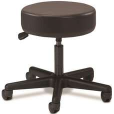 Pneumatic Adjustable Medical Stool - Black with Black Base