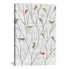 Summer Birds Background I by Courtney Prahl Gallery Wrapped Canvas Artwork