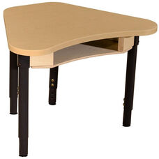 Synergy Classroom High Pressure Laminate Desk with Adjustable Steel Legs - 30