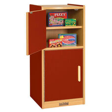 Colorful Essentials Laminate Kitchen Refrigerator Play Station with Four Shelves - Red