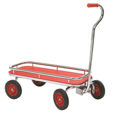 Angeles Silver Rider Wagon with Spokeless Solid Rubber Wheels - Red